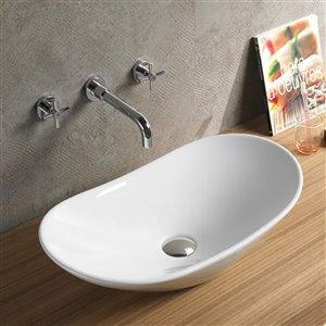 American Imaginations Vessel Sink - 28.5-in - White