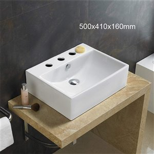 American Imaginations Bathroom Sink - 19.7-in - White