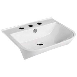 American Imaginations Rectangular Vessel Sink - 23.6-in - White