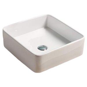 American Imaginations Vessel Sink - 16.3-in - White