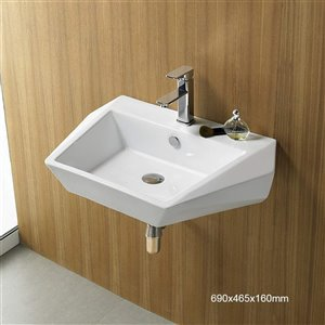 American Imaginations Wall-Mount Sink - 27.2-in - White
