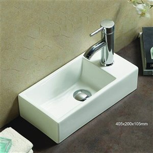 American Imaginations Vessel Sink - 16-in - White