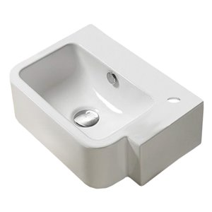 American Imaginations Vessel Sink - 17.5-in - White