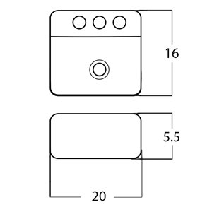 American Imaginations Vessel Rectangular Sink - 20-in - White
