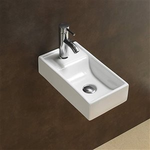 American Imaginations Wall-Mount Sink - 16.3-in - White