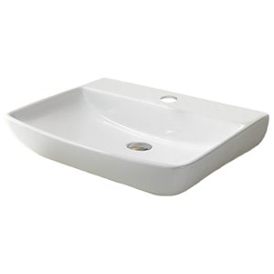 American Imaginations Wall-Mount Sink - 23.6-in - White