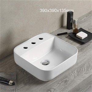 American Imaginations Vessel Sink - 15.4-in - White