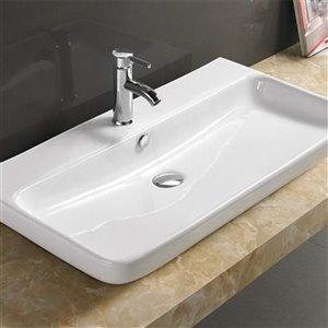 American Imaginations Vessel Sink - 32.1-in - White