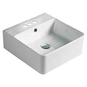 American Imaginations Rectangular Sink - 15.7-in - White