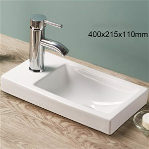 American Imaginations Drop-In Sink - 15.7-in - White