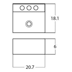 American Imaginations Rectangular Sink - 20.7-in - White