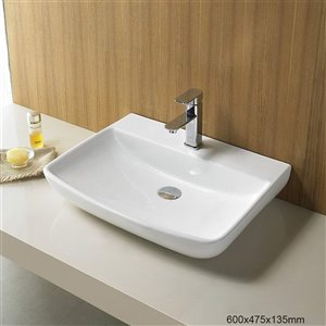 American Imaginations Vessel Sink - 23.6-in - White