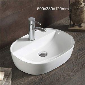 American Imaginations Vessel Sink - 19.7-in - White