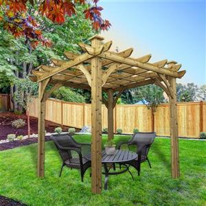 Cedarshed Cedar Pergola - 8 ft x 8 ft - Brown