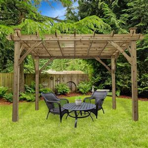 Cedarshed Cedar Pergola - 10 ft x 12 ft - Brown