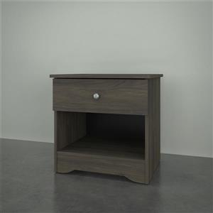 Nexera 4401 Nightstand -  1-Drawer -  Bark Grey