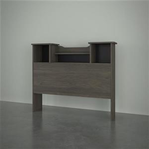 Nexera Bookcase Headboard - Bark Grey - Twin Size