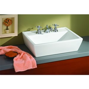 Cheviot Sentire Bathroom Sink - 18-in - White