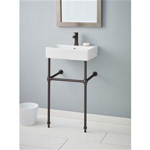 Cheviot Nuo Console Bathroom Sink - 19.75-in - White/Antique Bronze