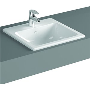 Cheviot Manhattan Drop-In Bathroom Sink - 19.75-in - White