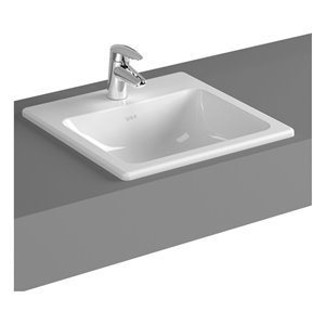 Cheviot Manhattan Drop-In Bathroom Sink - 17.75-in - White