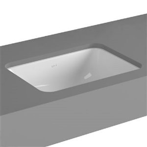 Cheviot Seville Undermount Bathroom Sink - 19.75-in - White