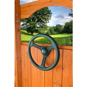 Creative Cedar Designs Steering Wheel for exterior playset - 12-in - Green