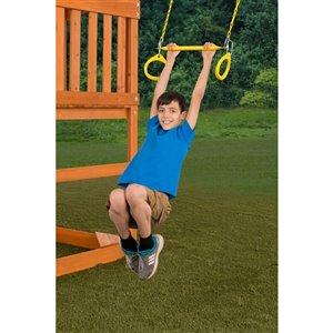 Creative Cedar Designs Circular Ring Trapeze Bar for exterior playset -  Yellow