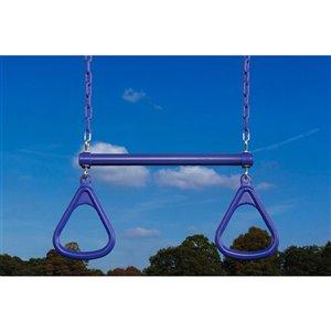 Creative Cedar Designs Triangle Trapeze Ring and Bar - Purple - 18-in