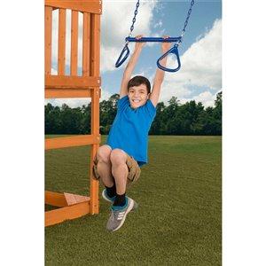 Creative Cedar Designs Triangle Trapeze Ring and Bar - Blue - 18-in