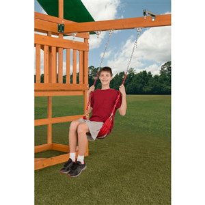 Creative Cedar Designs Ultimate Swing Seat - Red