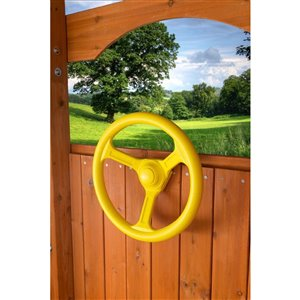 Creative Cedar Designs Steering Wheel for exterior playset - 12-in - Yellow