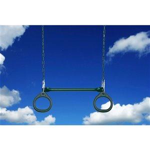 Creative Cedar Designs Circular Ring Trapeze Bar for exterior playset -  Green