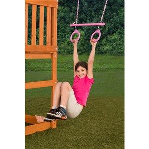 Creative Cedar Designs Circular Ring Trapeze Bar for exterior playset - Pink