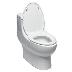 EAGO Slow-Close Toilet Seat for Elongated Toilet - Plastic - 18.75-in - White