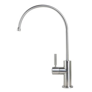ALFI Brand Hot and Cold Water Dispenser - Hi-Arc Spout - Brushed Stainless Steel