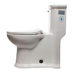 EAGO Elongated 1-Piece Toilet - Comfort Height - WaterSense - 16.5-in - White