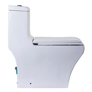 EAGO Slow-Close Toilet Seat for Elongated Toilet - Plastic - 18.25-in - White