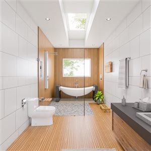 EAGO Elongated 1-Piece Toilet - WaterSense Dual Flush - Standard Height - 15.25-in - White
