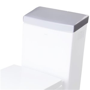 EAGO Replacement Porcelain Toilet Tank Lid - 7-in x 2.5-in - White