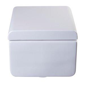 EAGO Slow-Close Toilet Seat for Elongated Toilet - Plastic - 17.5-in - White
