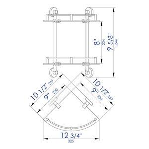 ALFI Brand Corner Hanging Shower Caddy - 9.62-in - Polished Chrome
