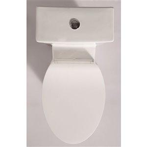 EAGO Slow-Close Toilet Seat for Elongated Toilet - Plastic - 18.5-in - White