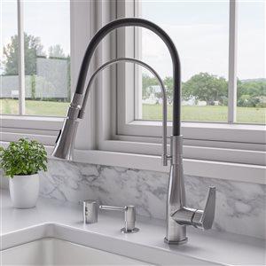 ALFI Brand Air Gap Cover and Tube for Kitchen Dishwasher Valve - Polished Chrome
