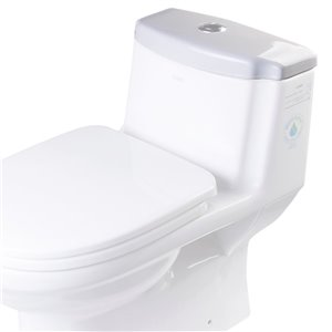 EAGO Replacement Toilet Tank Lid - 7-in x 2.5-in - White Porcelain