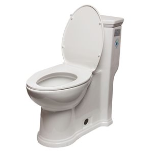 EAGO Slow-Close Toilet Seat for Elongated Toilet - Plastic - White