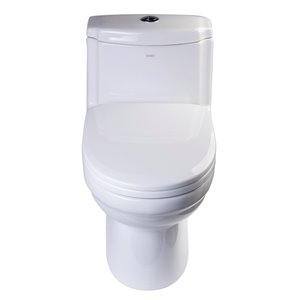 EAGO Slow-Close Toilet Seat for Elongated Toilet - Plastic - 18.25-in x 13.5-in - White