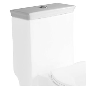 EAGO Replacement Toilet Tank Lid - 7-in - White Porcelain