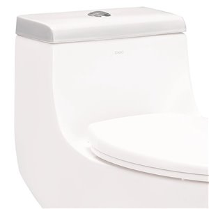 EAGO Replacement Toilet Tank Lid - 7.25-in x 2.25-in - White Porcelain