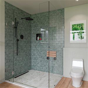 EAGO Elongated 1-Piece Toilet - Single Flush - Standard Height - 15.75-in - White